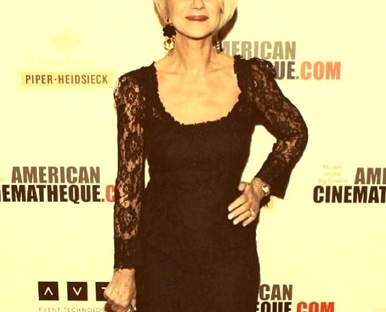Helen Mirren wearing Dolce & Gabbana at the 27th American Cinematheque Award in Beverly Hillswww.DiscoverLavish.com