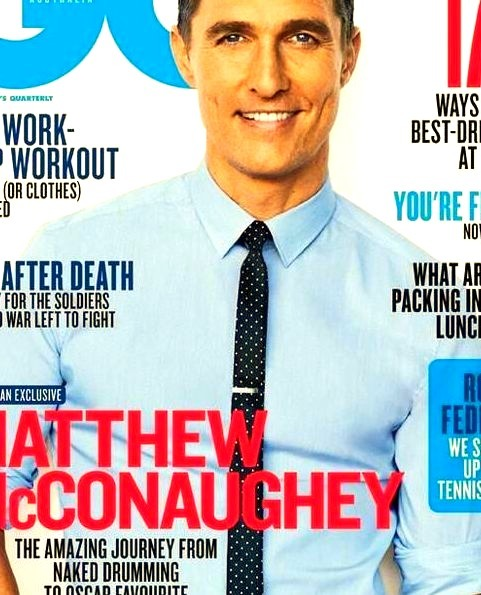 Matthew McConaughey wearing Dolce & Gabbana on The Cover of GQ