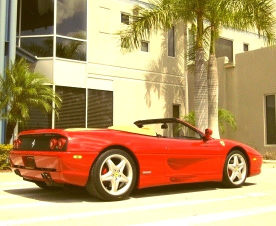 Red Ferrari Convertible