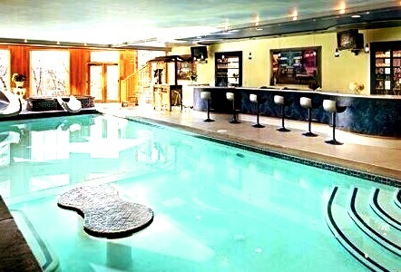 Luxury Indoor Pool and Bar