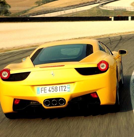 Yellow Ferrari Back End
